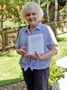Kay Winvurn-Seale with cookbook